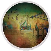 Rising Angel Round Beach Towel