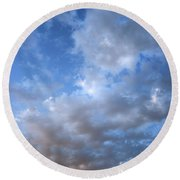 Round Beach Towel featuring the photograph Rising Clouds by Michael Rock