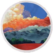 Rising High Round Beach Towel by Gary Coleman