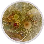 Rising Spring - Fractal Art Round Beach Towel