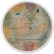 Rising Star  Round Beach Towel by Paul Klee