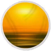 Rising Sun Round Beach Towel by Az Jackson