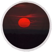 Rising Sun In Texas Round Beach Towel
