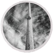 Round Beach Towel featuring the photograph Rising To The Heights by Greg Nyquist