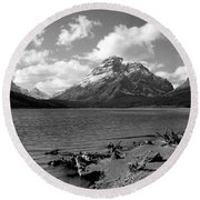 Rising Wolf, Two Med Shoreline Round Beach Towel