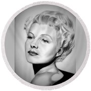 Rita Hayworth Round Beach Towel