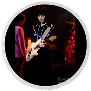 Ritchie Blackmore Super Nova Lighting Effect - Oakland Auditorium 1979 Round Beach Towel