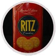 Ritz Crackers Round Beach Towel