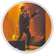 Round Beach Towel featuring the photograph Rival Sons Jay Buchanan by Jeepee Aero