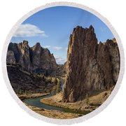 River And Rock Round Beach Towel