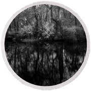 River Bank Palmetto Round Beach Towel by Marvin Spates