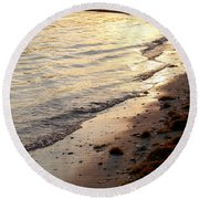 River Beach Round Beach Towel