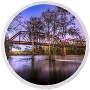 River Bridge Round Beach Towel