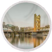 River City Waterfront Round Beach Towel