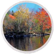 River Color Round Beach Towel