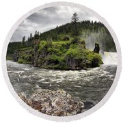River Course Round Beach Towel
