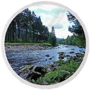 Round Beach Towel featuring the photograph River Dee In Summer by Phil Banks
