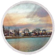 River Dream Round Beach Towel