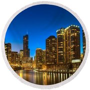 River East Chicago Round Beach Towel