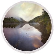 Round Beach Towel featuring the photograph River Fire  by Amy Weiss