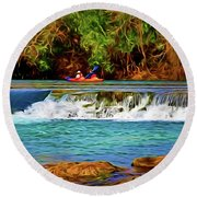 River Good Times 121217-1 Round Beach Towel
