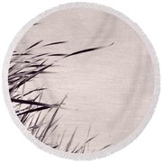 Round Beach Towel featuring the photograph River Grass by Michelle Calkins