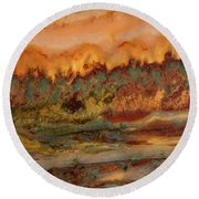 River In Stone Round Beach Towel