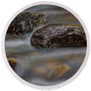 Round Beach Towel featuring the photograph River Magic 2 by Douglas Stucky