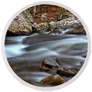 Round Beach Towel featuring the photograph River Magic by Douglas Stucky