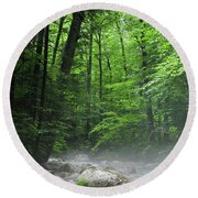 River Mist Round Beach Towel