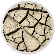 River Mud Round Beach Towel