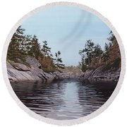 River Narrows Round Beach Towel