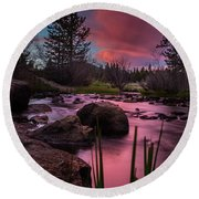 River Of Dreams Round Beach Towel