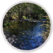 River Of Peace Round Beach Towel