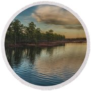 River Reflections On The Mullica River Round Beach Towel