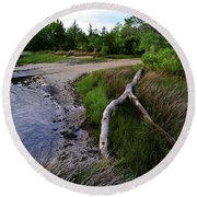 River Road Park Driftwood Round Beach Towel