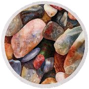 River Rocks Round Beach Towel