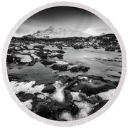 River Sligachan And Black Cuillin, Isle Of Skye Round Beach Towel
