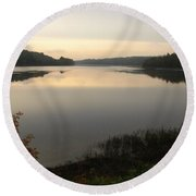 River Solitude Round Beach Towel
