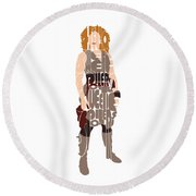 River Song Round Beach Towel by Jean Haynes