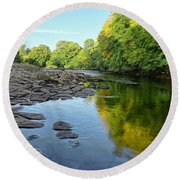 River Swale, Easby Round Beach Towel