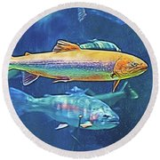 River Trout Round Beach Towel