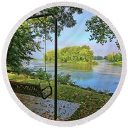 River View 4136 Round Beach Towel