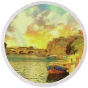 River View Round Beach Towel