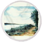 River Walk Round Beach Towel by Heidi Kriel