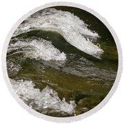 River Waves Round Beach Towel