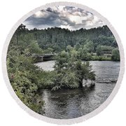 River Wonders Round Beach Towel