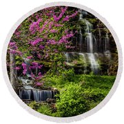 Rivercut Waterfall Round Beach Towel