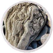 Rivered Stone Round Beach Towel