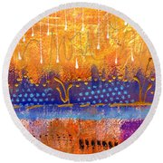 Riverfront View Round Beach Towel